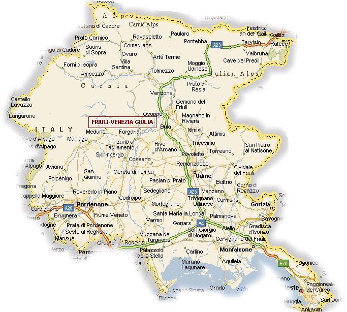 Dettagliata Cartina Del Friuli Venezia Giulia.Friuli Venezia Giulia Consiglio Regionale Approva Legge Su Integrazione Immigrati Stranieri In Italia